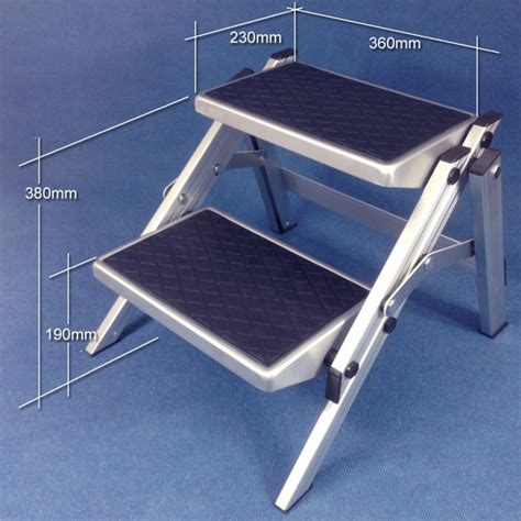 folding double step aluminium 150kg rated caravan