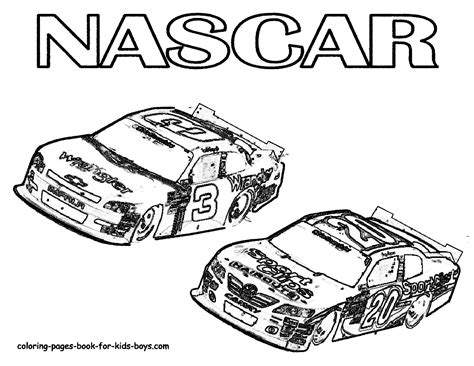 jeff gordon race car coloring pages