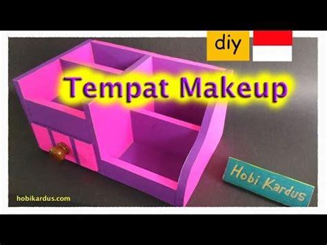 cara membuat lemari make up dari kardus cara membuat tempat make up dari kardus rak laci knob kayu