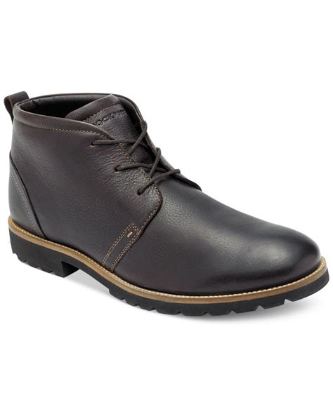 rockport boots rockport charson chukka boots in brown for chocolate