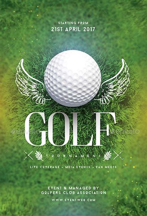 golf tournament flyer template golf tournament flyer template for golf events matches or