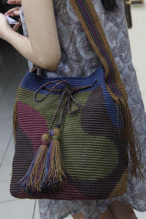 tutorial tas rajut tribal 17 best images about bolsas croche trico etc on