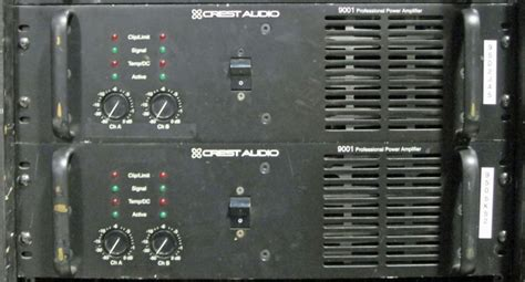 Power Lifier 9001 used 9001 by crest audio item 28110