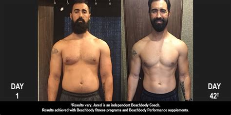 21 day fix results jared lost 14 pounds in 42