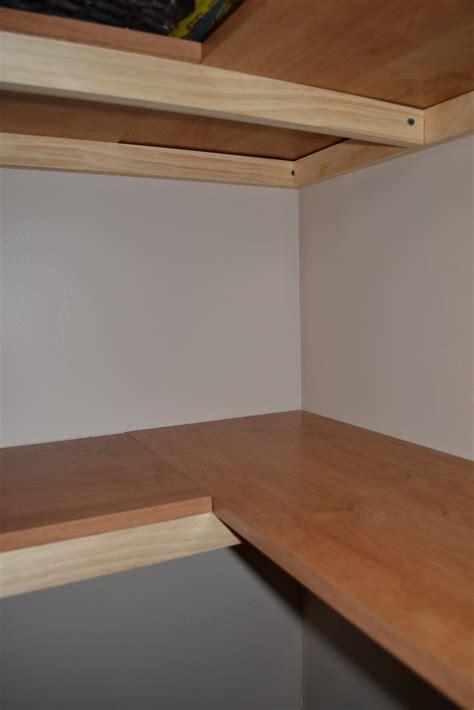 shaped corner shelves good ideas   closet redo