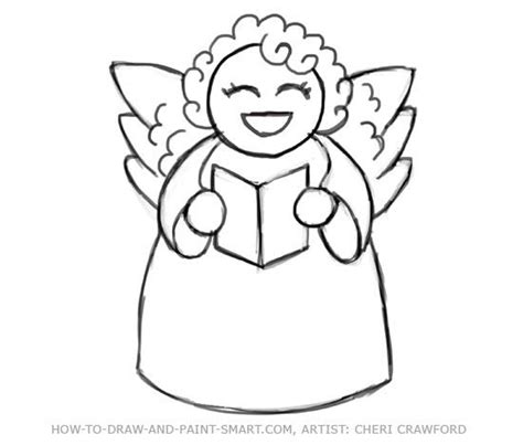 angel face christmas templates angel drawing drawings