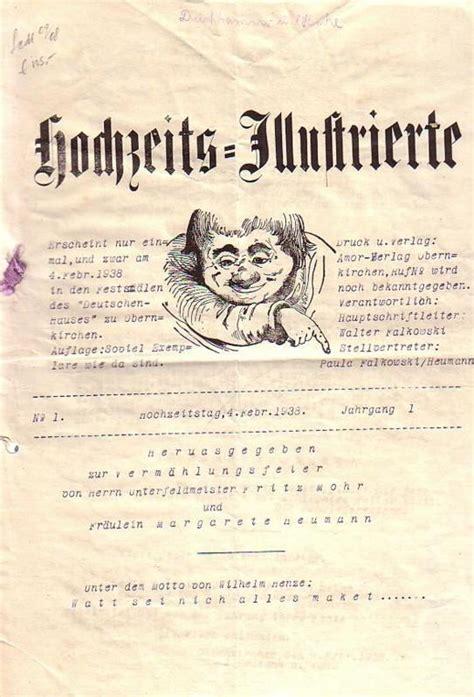 Hochzeit Zeitung by Hochzeitszeitung Zur Vermaehlungsfeier Hochzeits