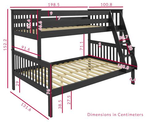 bunk bed dimensions oxford bunk bed in grey small