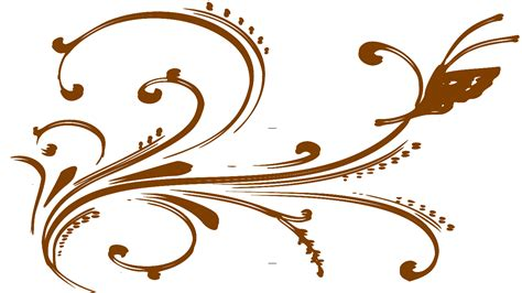 brown floral pattern border images of flower designs cliparts co