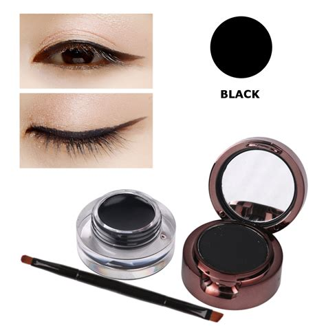 Pixy Eyeliner Gel Black 3pcs waterproof eyebrow powder eyeliner gel set with brush