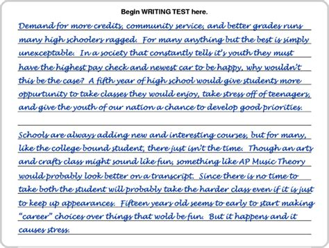 How To Write 5 Page Essay by Writing Sle 5 Page 1