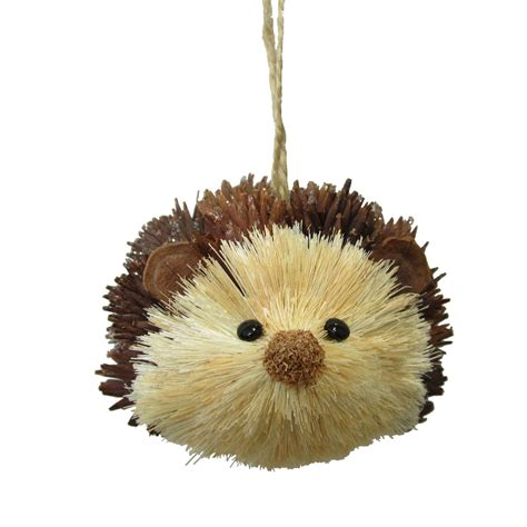 jaclyn smith 3 quot sisal hedgehog christmas ornament