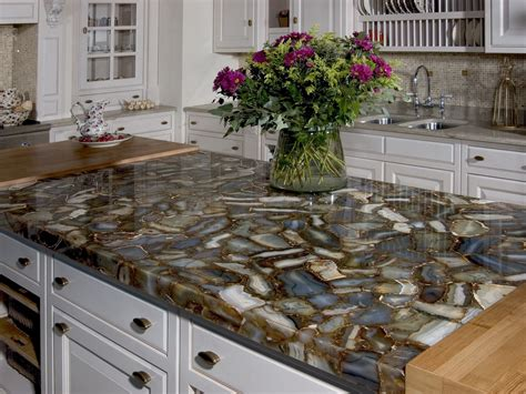 Inexpensive Kitchen Flooring Ideas by Caesarstone Sfumato Countertops Installation Photo