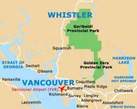 map of canada whistler whistler travel guide and tourist information whistler