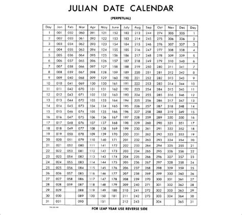 julian calendar documents in pdf psd