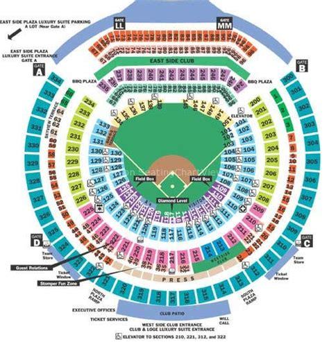 oakland athletics seat map o co coliseum seating chart view