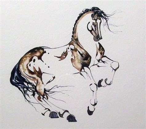 watercolor horse tattoo watercolor ink