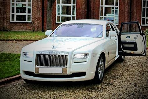 white rolls royce ghost wedding chauffeur car hire