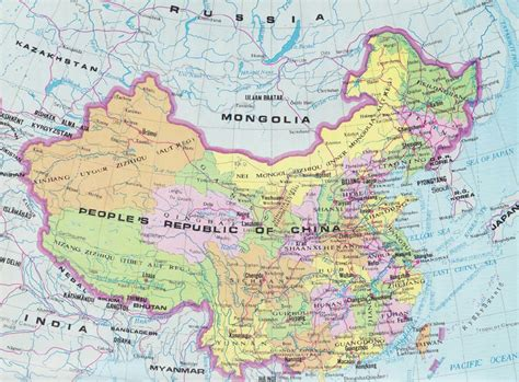map of china and surrounding countries map of s republic of china showing the provinces