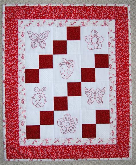 Redwork Quilt by 404 Not Found