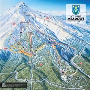 oregon ski areas map mount piste maps