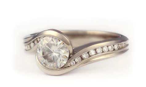 unique artsy wedding rings mini bridal