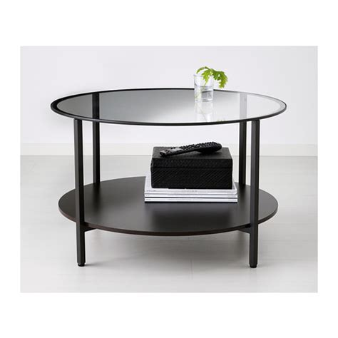 Ikea Glass Coffee Tables Vittsj 214 Coffee Table Black Brown Glass 75 Cm Ikea