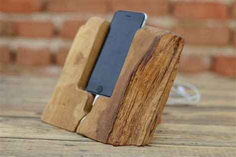 Charging Station For Phones Handcrafted Iphone 6 Wood Stand Natural Wood Iphone Dock