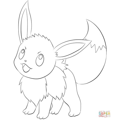 pokemon coloring evee to print coloring pages