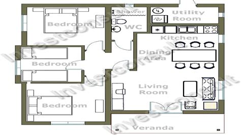cheap 3 bedroom house plan small 3 bedroom house floor