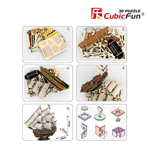 3d Puzzle Robotime Victory Ship Ba501 cubicfun hms victory 3d puzzle ship paper model buy 3d puzzle ship model model ship product on