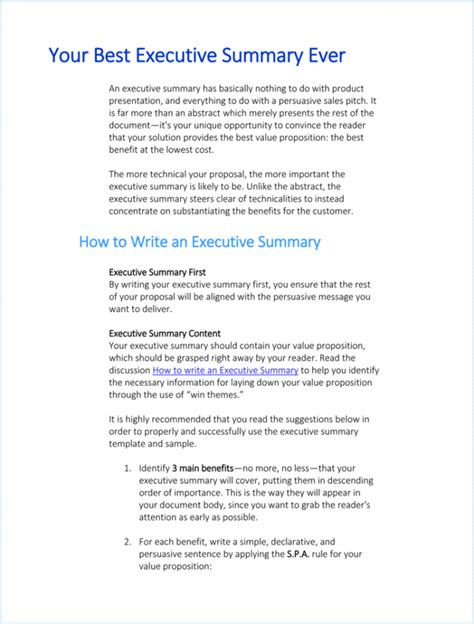 Executive Summary Outline by 5 Executive Summary Templates For Word Pdf And Ppt