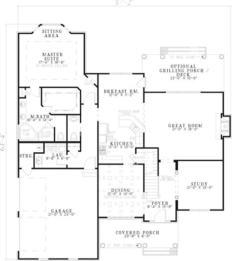 southern style floor plans midland southern style home plan 055d 0533 house plans and more