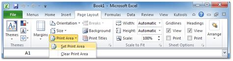 set printable area excel 2013 where is set print area in excel 2007 2010 2013 and 2016