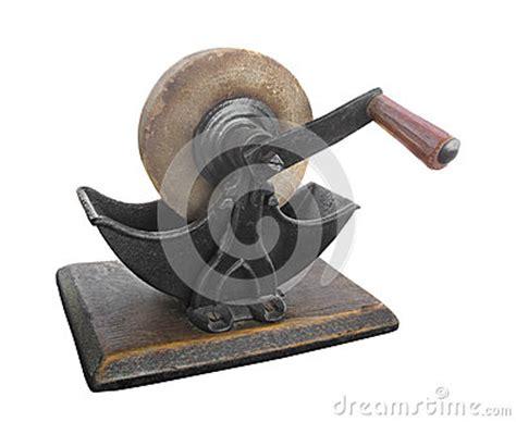manual sharpening wheel sharpening wheel isolated stock image