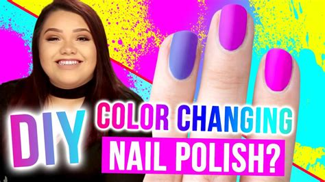 diy color changing nail diy color changing nail makeup mythbusters w