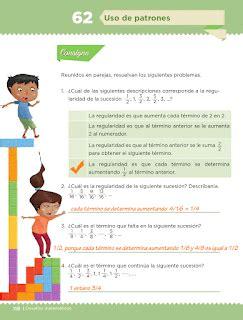pagina 116y117del libron matemsticas quinto grado contestado uso de patrones bloque iv lecci 243 n 62 apoyo primaria