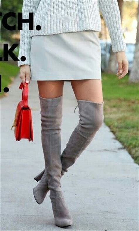 light grey over the knee boots 1000 ideas about over knee suede boots on pinterest