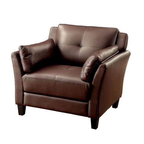 brown faux leather accent chair furniture of america tonia faux leather accent chair in