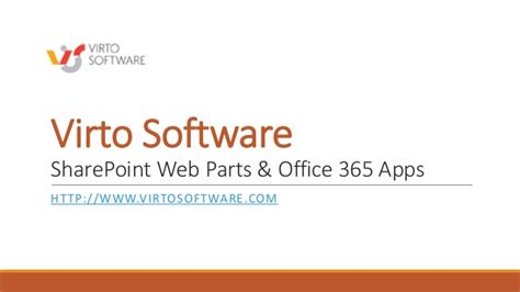 Office 365 Portal Webpart Virtosoftware Sharepoint Web Parts And Office 365 Apps