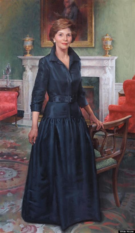 lady laura welch bush official portrait unveiled