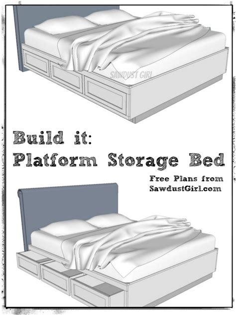 cal king platform storage bed  plans feelin