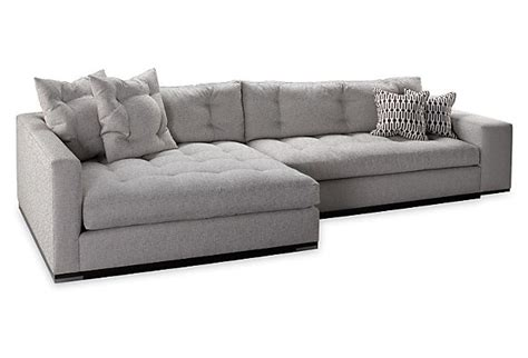 dual chaise sofa colton sofa with down cushions and double wide chaise by