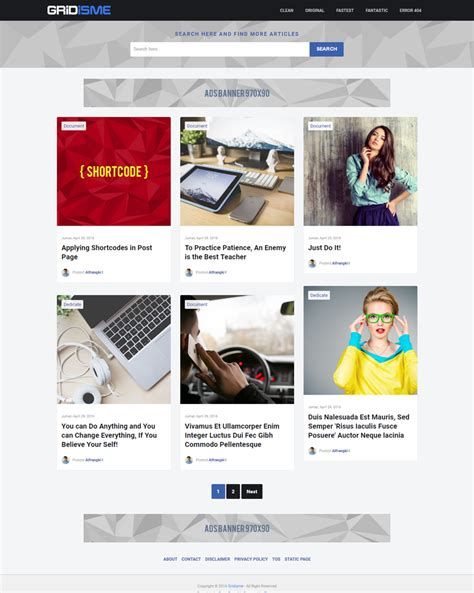 Gridisme Clean And Mobile Friendly Blogger Template Themeindie Com Mobile Friendly Templates