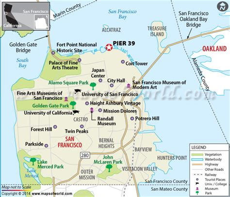 san francisco latitude map pier 39 san francisco california location map