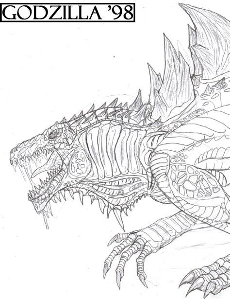 godzilla 1998 coloring pages godzilla 98 by titanosaur on deviantart
