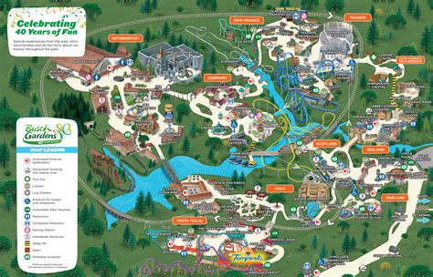 Busch Gardens Virgina by Park Map Busch Gardens Williamsburg