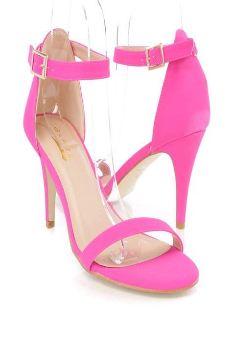 Promo Diskon Sandal Wedges Bunga Pink Wedges High Heels Flower Pink F pink ankle faux leather open toe high heels