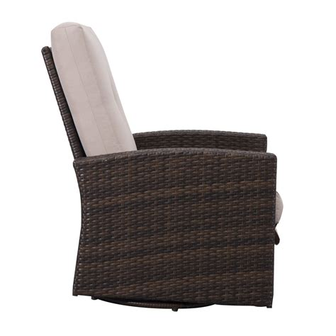 Outsunny Rattan Wicker Swivel Rocking Outdoor Recliner Swivel Wicker Chair