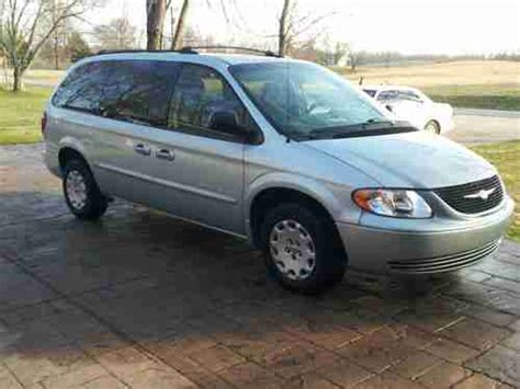 2001 chrysler town and country for sale sell used 2001 chrysler town and country lx silver blue